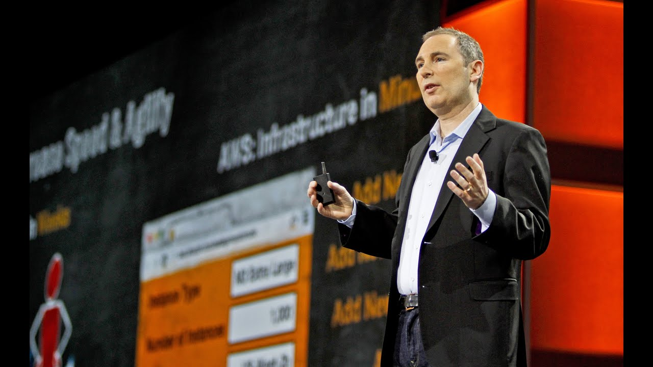 Andy Jassy during the re: Invent Day 1 event in 2012. Photo: AWS Disclosure.